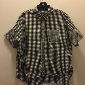 Madewell Hi Low Gingham Check Shirt  M